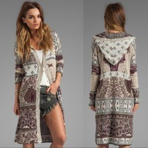 Free People Americana Hooded Duster size M